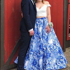 SHERRI HILL two piece prom dress!!